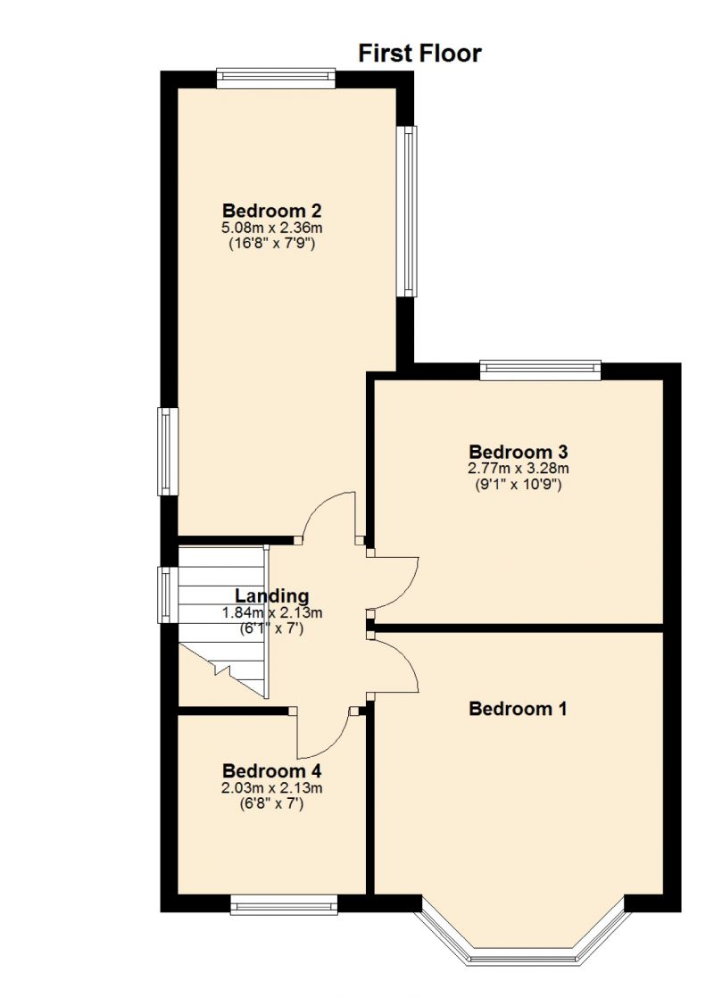 Floorplan for Albany Avenue, Delamere Park, Manchester
