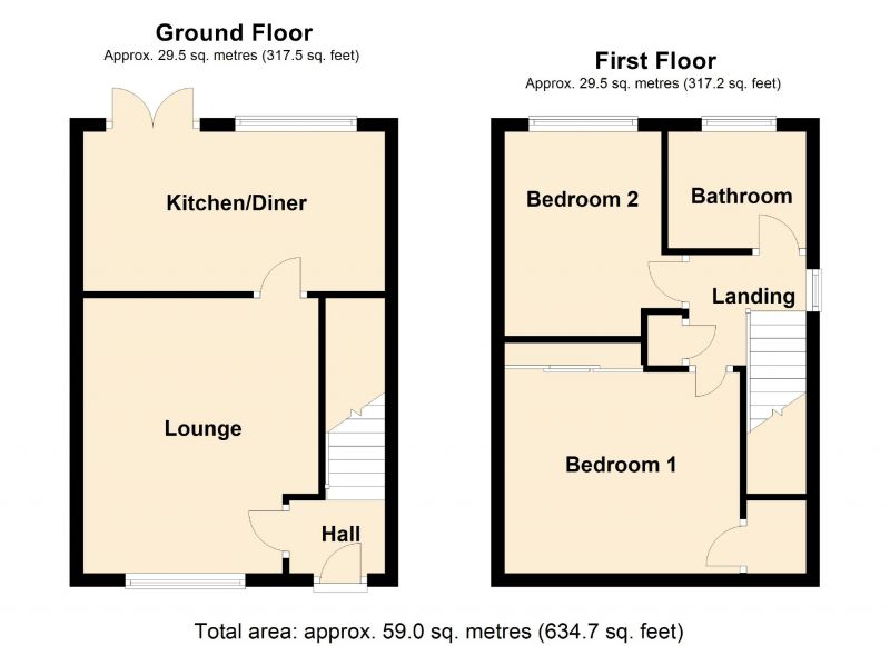 Floorplan for Thornholme Close, Manchester