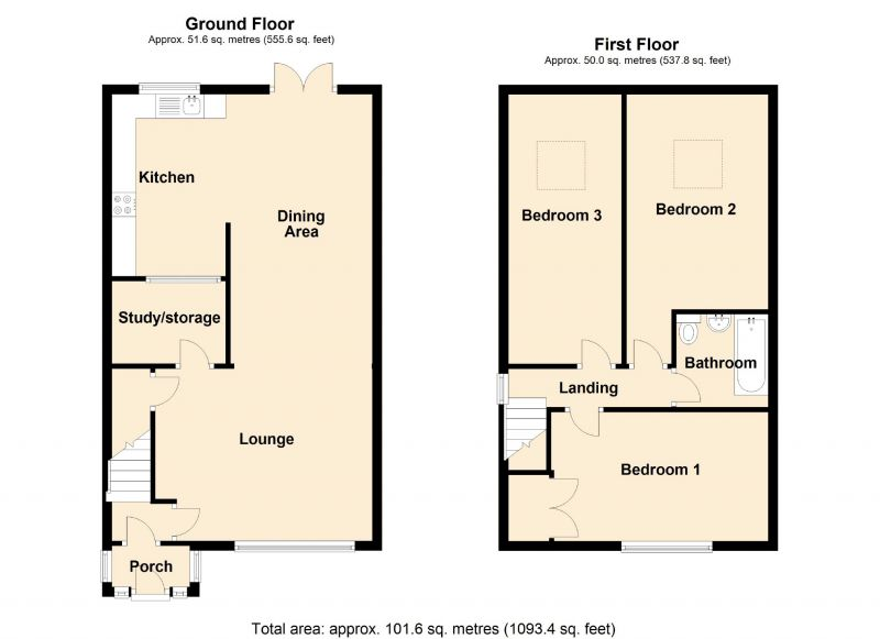 Floorplan for Woodhall Crescent, Stockport