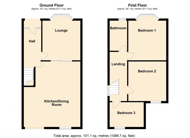 Floorplan for Carlton Avenue, Romiley, Stockport