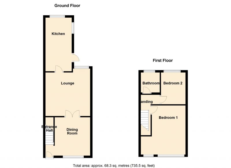 Floorplan for Carlton Avenue, Manchester
