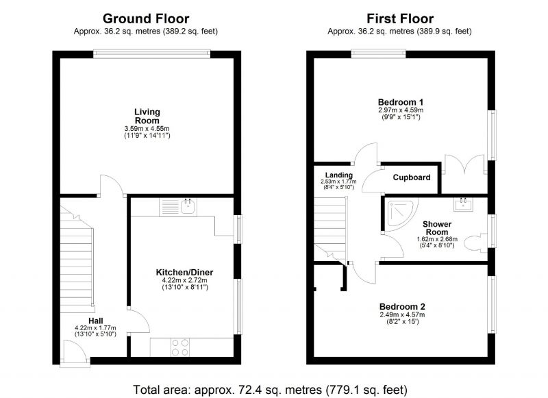 Floorplan for Henley Avenue, Cheadle Hulme, Stockport