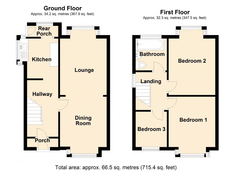 Floorplan for Taylor Lane, Denton, Manchester
