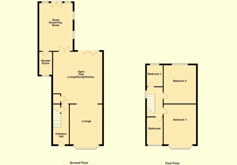 Floorplan for Lytham Road, Manchester