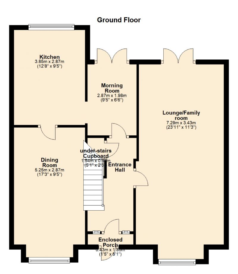 Floorplan for Kingsley Grove, Audenshaw, Manchester