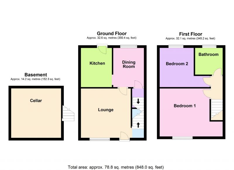 Floorplan for Fenton Avenue, Hazel Grove, Stockport