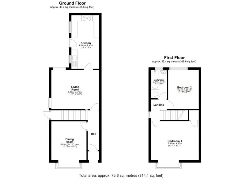 Floorplan for Lorland Road, Cheadle Heath, Stockport