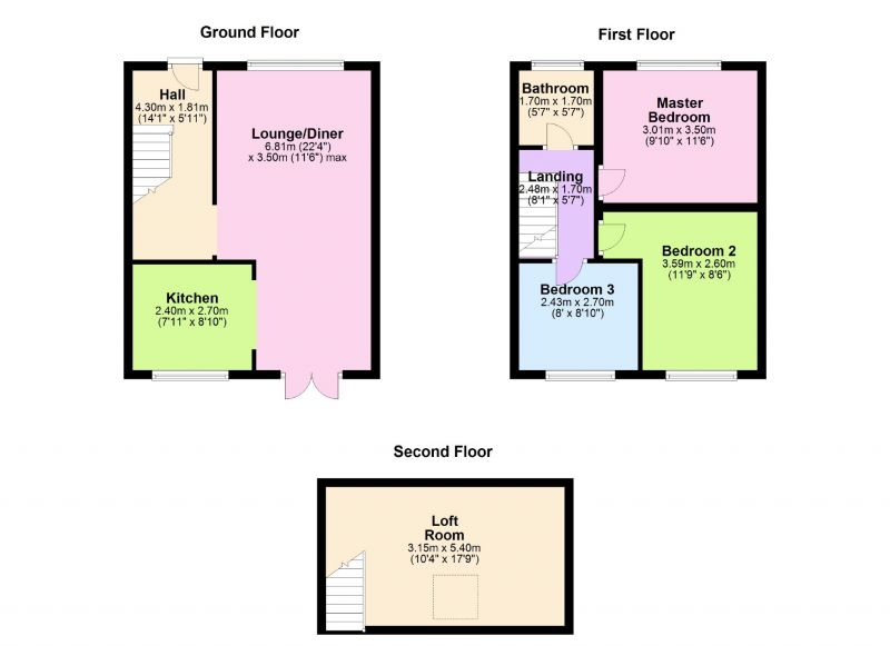 Floorplan for Hollins Road, Oldham