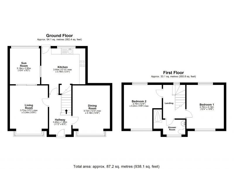 Floorplan for Kensington Road, Cheadle Heath, Stockport