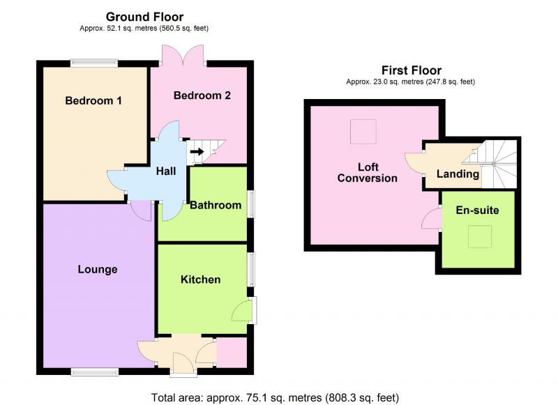 Floorplan for Oakland Avenue, Offerton, Stockport