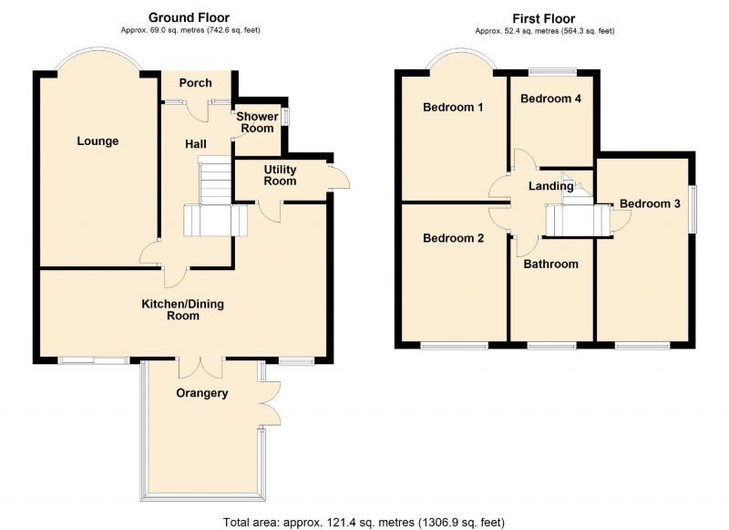 Floorplan for Longwood Close, Romiley, Stockport