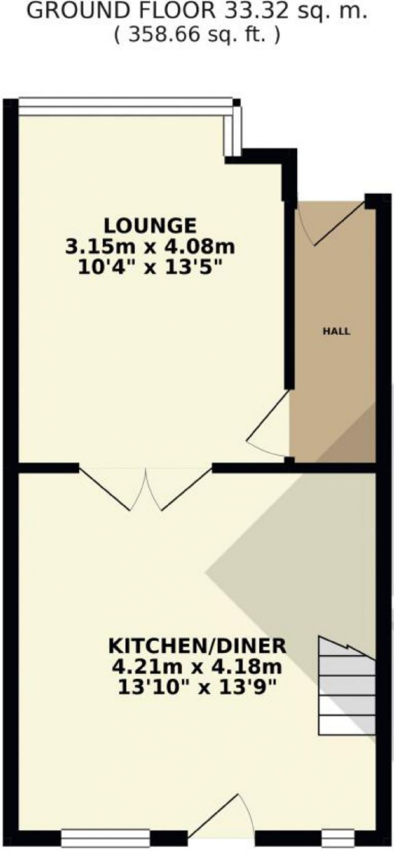 Floorplan for Hampden Road, Prestwich, Manchester