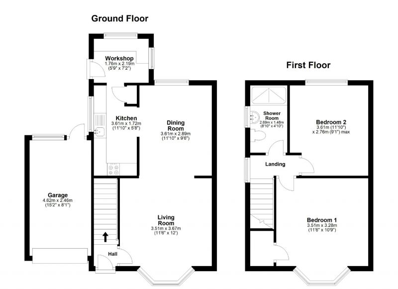 Floorplan for Heathside Road, Cheadle Heath, Stockport