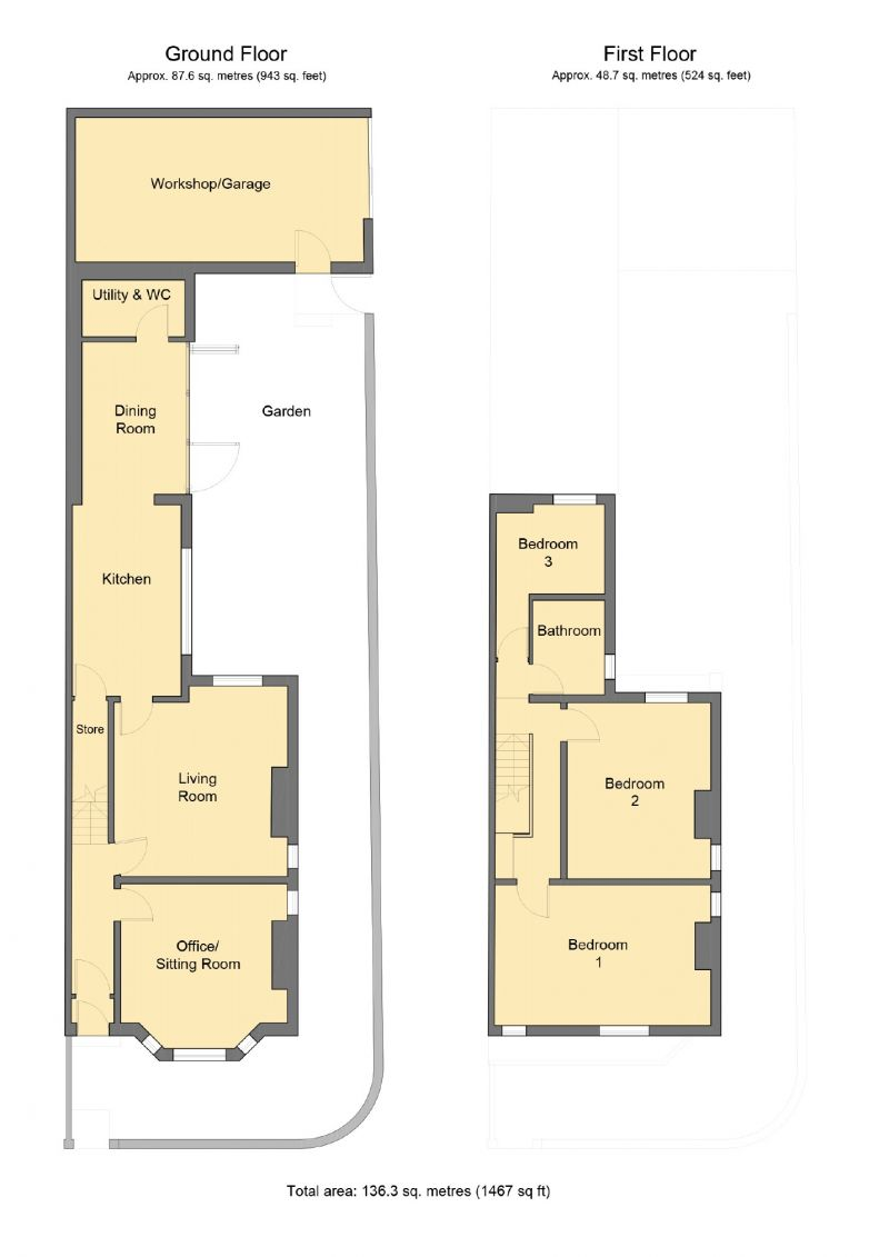 Floorplan for Broom Lane, Levenshulme, Manchester
