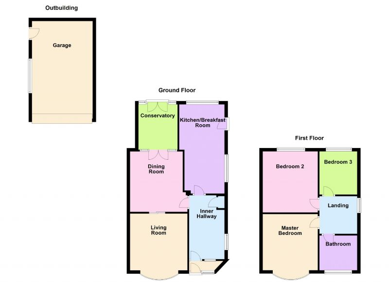 Floorplan for Langdale Road, Woodley, Stockport
