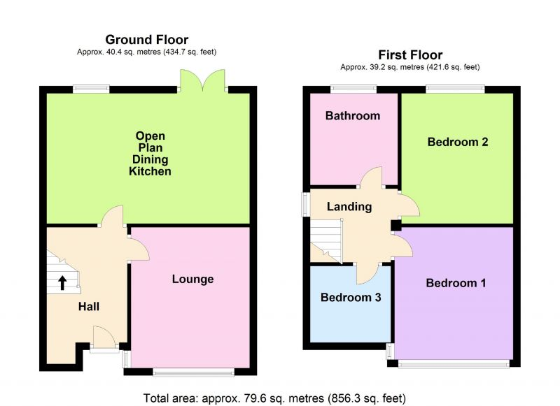 Floorplan for Edale Close, Hazel Grove, Stockport