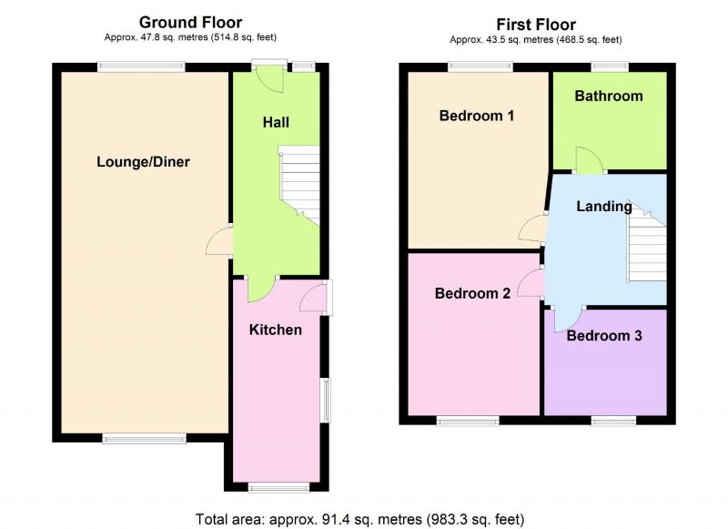 Floorplan for Parrs Wood Road, Manchester