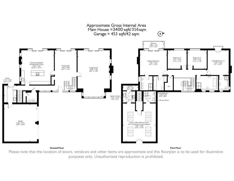 Floorplan for Chester View, Kelsall, Cheshire