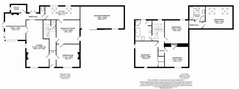 Floorplan for Wincle, Nr Macclesfield, Cheshire