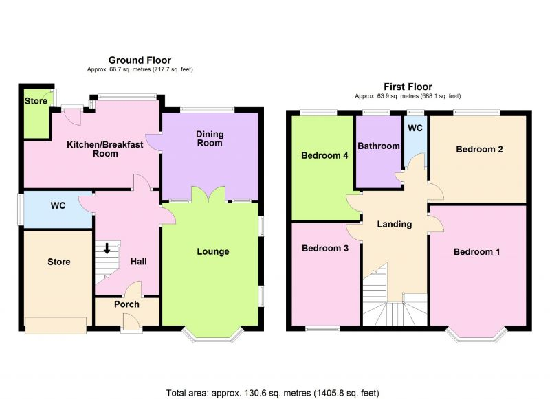 Floorplan for Elton Drive, Hazel Grove, Stockport