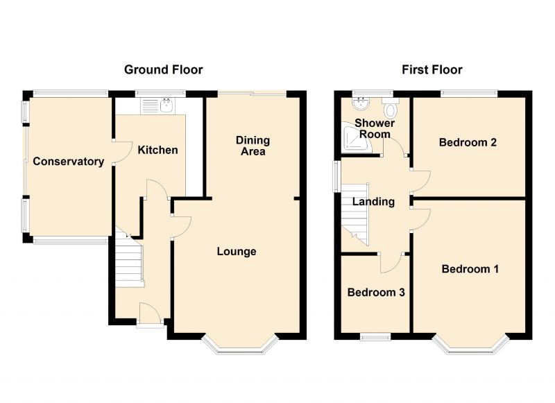 Floorplan for Dale View, Denton, Manchester