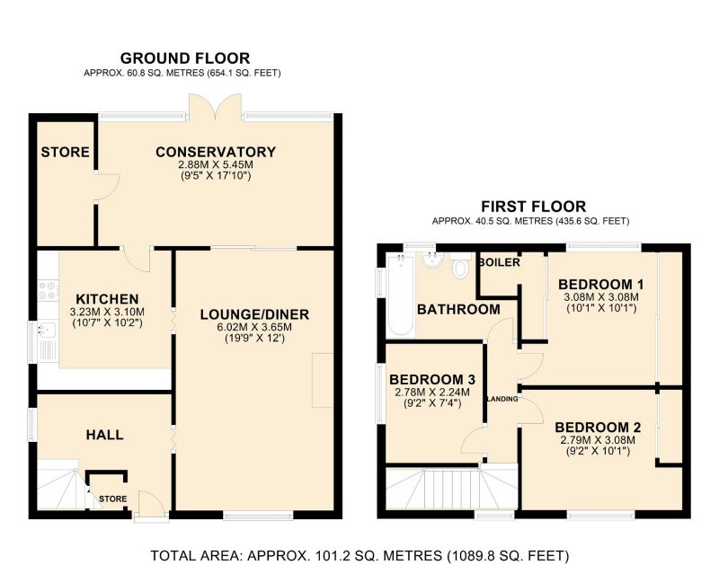 Floorplan for Briar Lane, Northwich, Cheshire