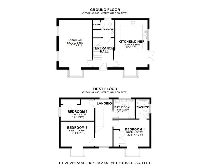 Floorplan for Ravencroft Street, Northwich, Cheshire
