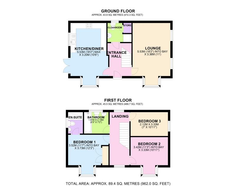 Floorplan for Groves Way, Northwich, Cheshire