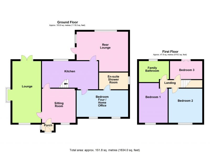 Floorplan for Cherry Tree Lane, Great Moor, Stockport