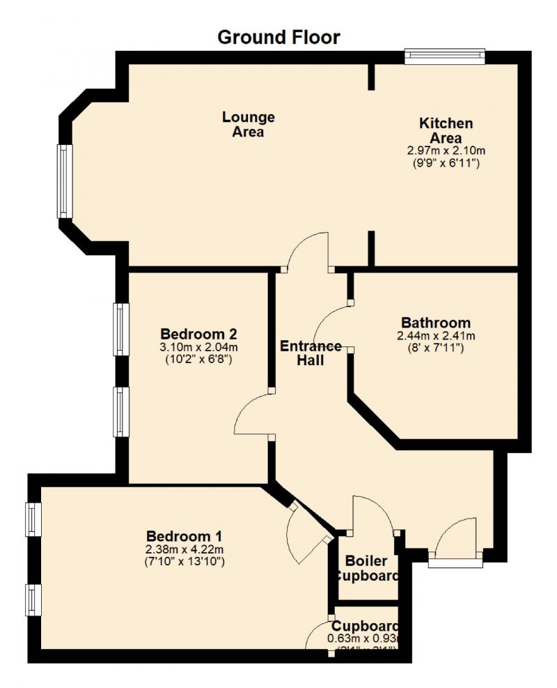 Floorplan for 15 Falls Green Avenue, Newton Heath, Manchester