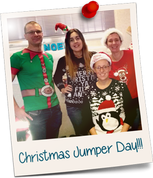 Edward Mellor Staff Wearing Christmas Jumpers
