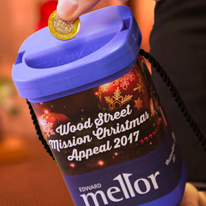 Wood Street Mission Charity Collection Tin