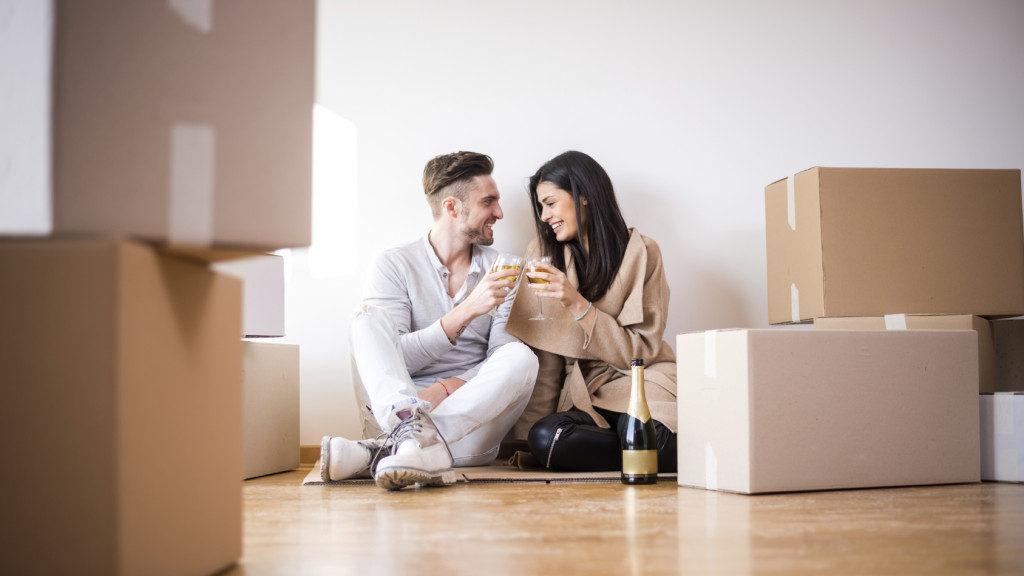 Celebrating moving in