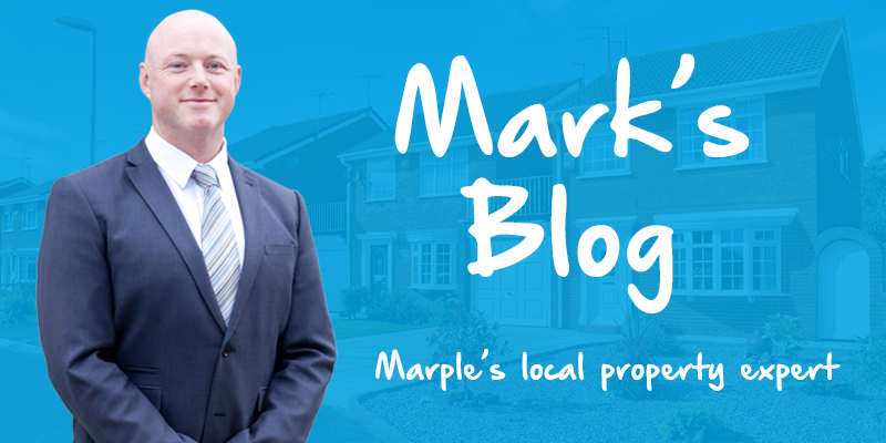 A graphic for Mark Smiths blog. A background image of property then an image of Mark Smith with text across the front.