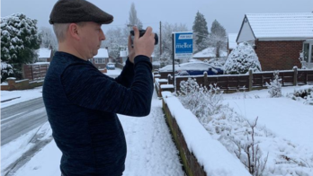 Nigel taking images of Romiley