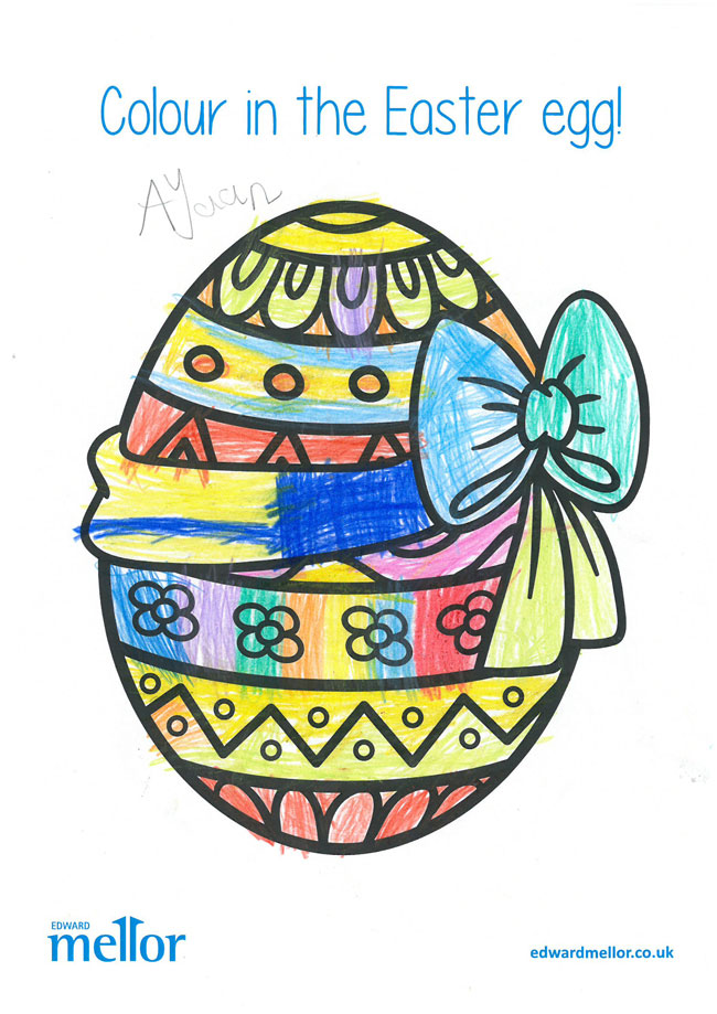 A drawing of an Easter Egg